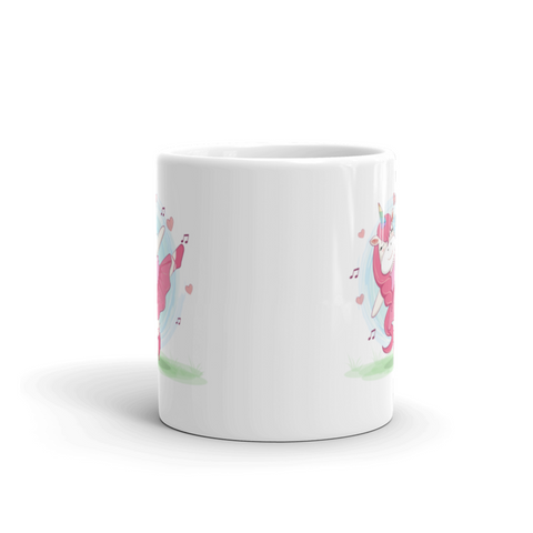 Unicorn Ballerina Gymnastics Magical White Gift Idea Coffee Mug 11 oz