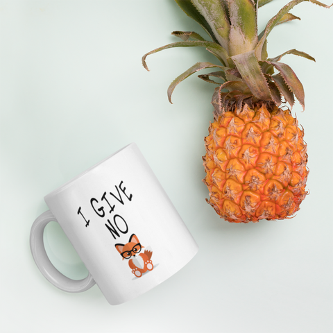I Give No Fox Funny  Motivational Friendship Gift Coffee Mug 11 oz