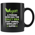 Vegan Coffee Mug Quote Definition Ceramic Mug