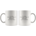 Vegan Funny Coffee Mug 11 oz Novelty Gift Idea