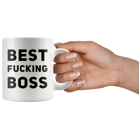 Gift For Boss Best F***ing Boss Sarcastic Employer's Appreciation Coffee Mug 11 oz