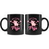 Pig Farmer Gift Just a Girl Who Love Pigs Funny Appreciation Black Coffee Mug 11 oz