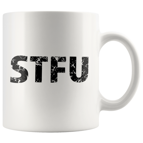 STFU Computer Based Convo Funny Gift Ceramic Coffee Mug 11 oz