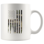 Patriotic Gifts Camouflage American Flag Veteran Thank You Appreciation White Mug 11 oz