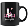 Llama Birthday Alpaca Birthday Girl Llama Animal Lover Appreciation Coffee Mug 11 oz