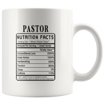 Pastor Nutrition Facts Label Funny Ceramic Coffee Mug 11 oz