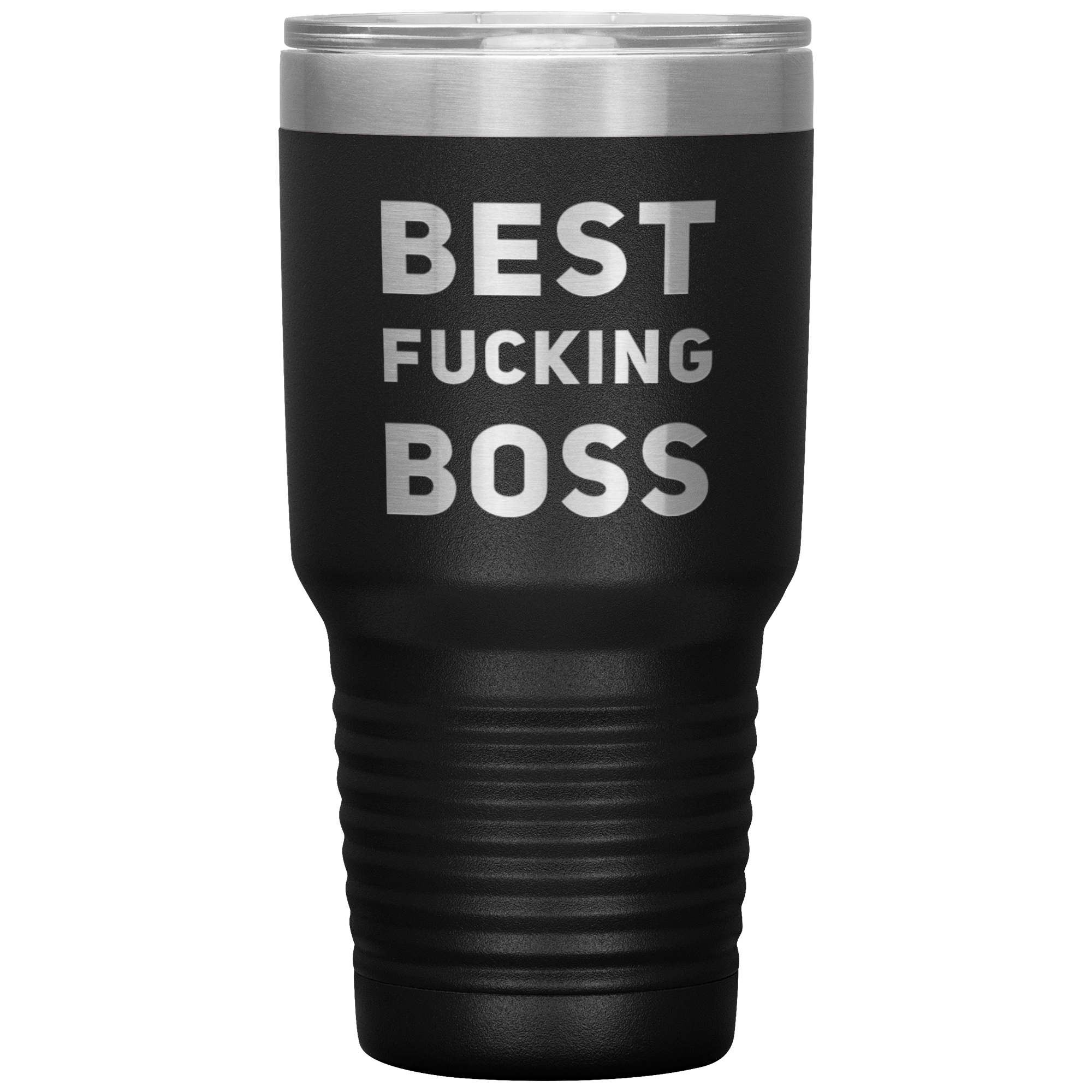 Gift For Boss Best F***ing Boss Sarcastic Employer's Appreciation Coffee Tumbler 30 oz