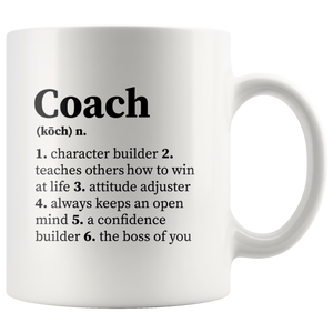 Coach Definition Gifts For Boss Team Manager Novelty  Coffee Mug 11oz
