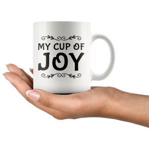 My Cup Of Joy Pastor Inspiring Scripture Quote Ceramic Coffee Mug 11oz