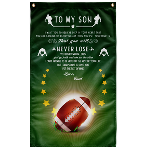 American Football Father Gift To Son Wall Flag