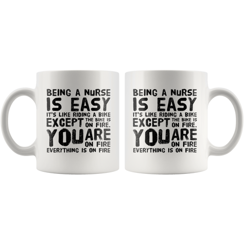 Being a Nurse Is Easy Like Riding A Bike Gifts Ceramic Coffee Mug 11 oz