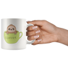 Sloth Gifts - Slofee Sloth Coffee Lover Spirit Animal Appreciation Gifts White Mug 11 oz