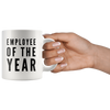 Employee Of The Year Appreciation Recognition Ceramic Coffee Mug 11 oz