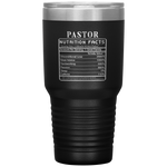 Pastor Nutrition Facts Label Funny Insulated Travel Mug 30 oz
