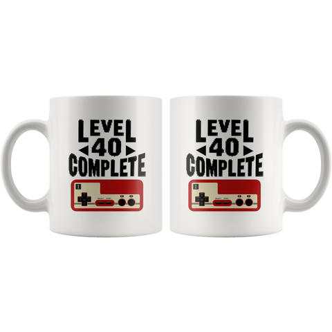 Level 40 Complete Coffee Mug 11 oz - Video Game Controller Mug