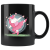Ballet Dancer Unicorn Ballerina Gymnastics Magical Black Mug 11 oz