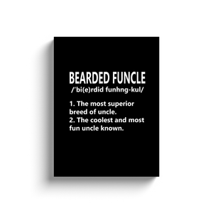 Bearded Funcle Definiton Funny Gift For Uncle Canvas Wrap Wall Art