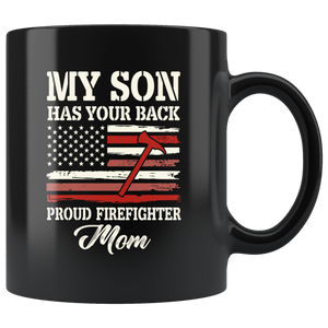 Proud Firefighter American Mom Coffee Mug