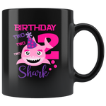 Kids Baby 2nd Birthday Celebration Gift Ceramic Black Coffee Mug 11 oz
