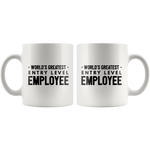 World's Greatest Entry Level Employee Graduation Gift Coffee Mug Tea Cup White