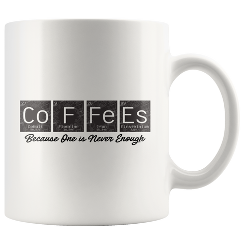 CoFFeEs Chemistry Periodic Table  Science Teacher Gift Coffee Mug 11 oz