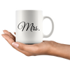 Mr. and Mrs. Couple Mug Valentines Wedding Gift Bride Groom  11 Oz White Coffee Cup