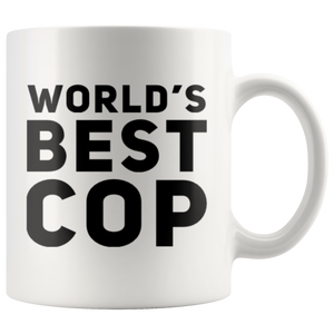 Police Officer Gift World's Best Cop Thank You Policemen Appreciation Coffee Mug 11 oz
