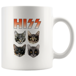 Hiss Funny Rock and Roll Cats Ceramic Coffee Mug