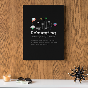 Debugging Definition Computer Programmers Gift Canvas Wrap Wall Art