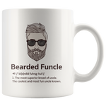 Bearded Funcle Best Uncle Funny Coffee Mug For New Uncles Cup 11oz