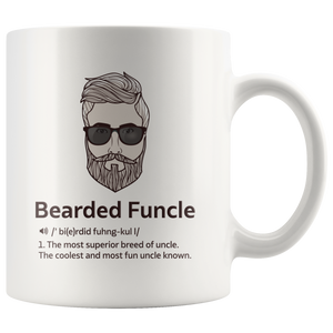 Bearded Funcle Best Uncle Funny Gift Idea Ceramic Coffee Mug 11 oz