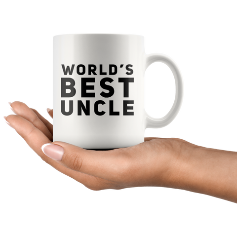 Gift For Uncle World's Best Uncle Thank You Appreciation For Him Coffee Mug 11 oz