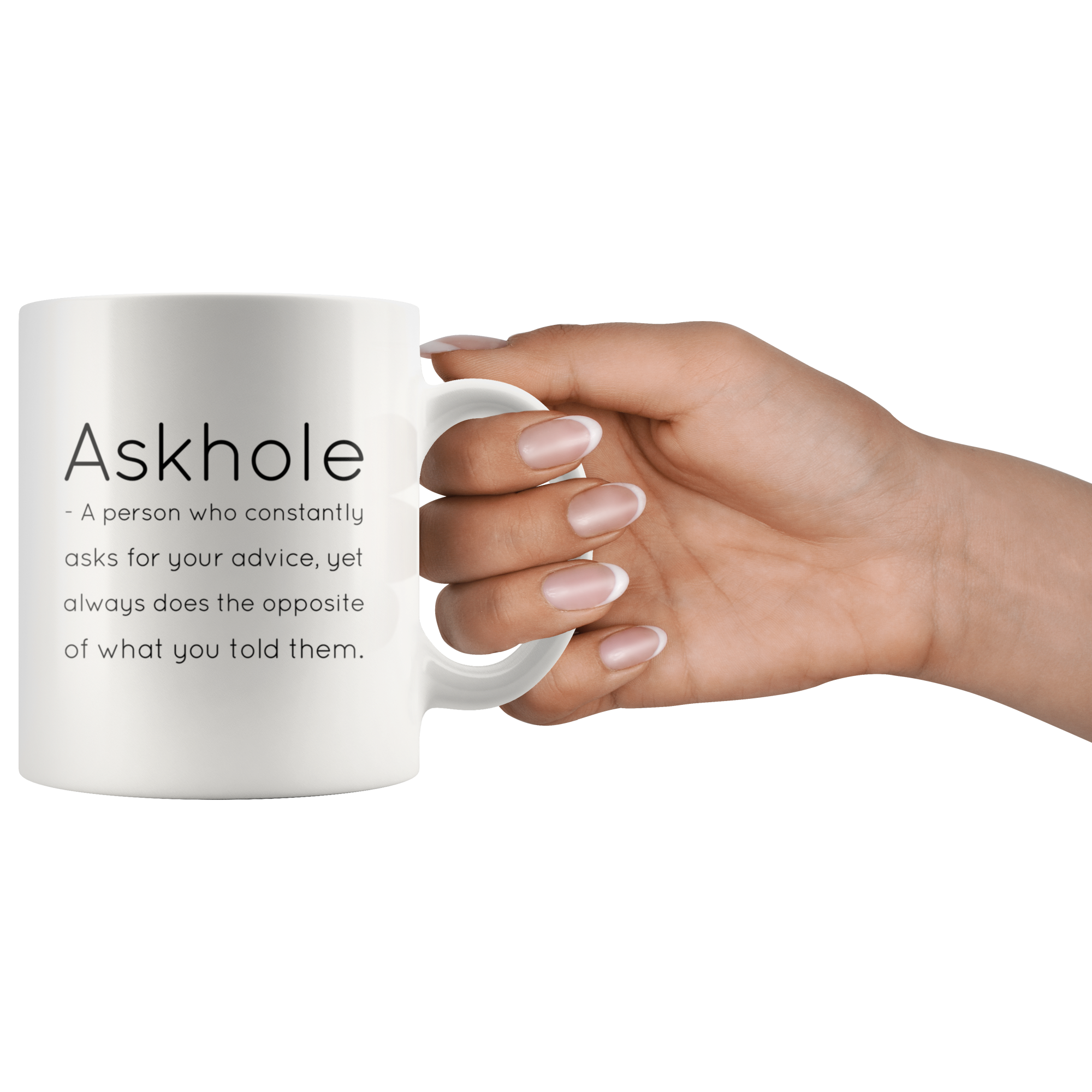 Funny Definition Mug Askhole Grammar Coffee Mug