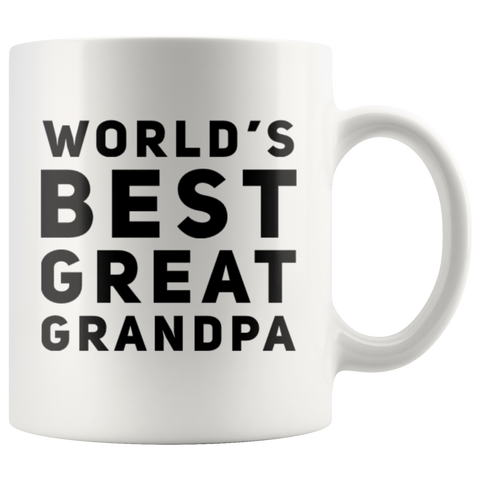 Grandpa Gift - World's Best Great Grandpa Thank You Appreciation Coffee Mug 11 oz