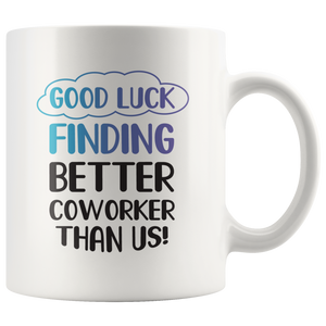 Funny Novelty Good Luck  Coffee Mugs-Boss Leaving Gift