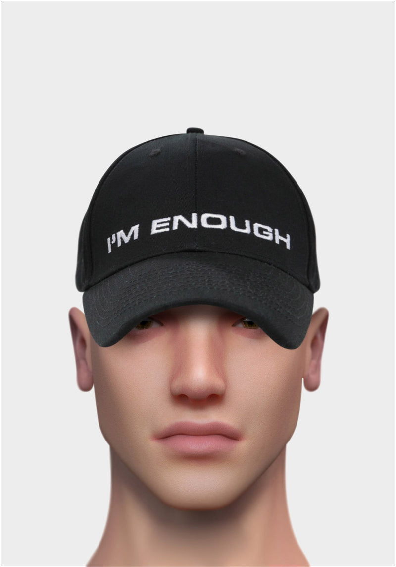 Black 'I'M ENOUGH' Cap