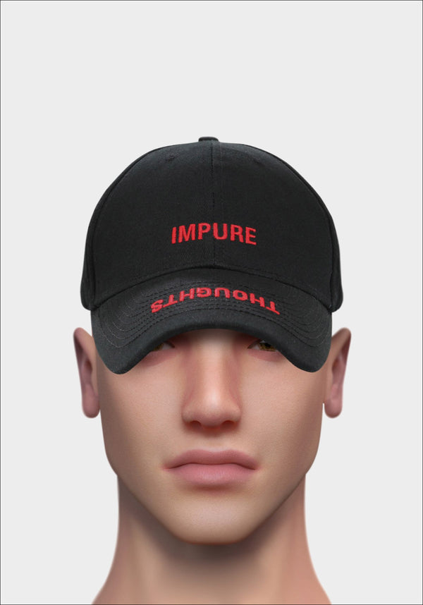 Black 'IMPURE THOUGHTS' Cap