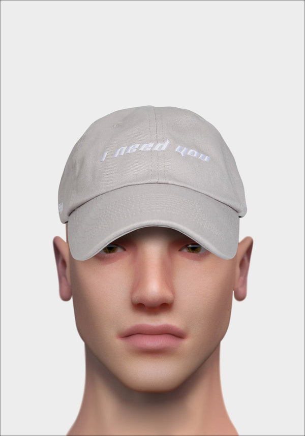 Grey 'I NEED YOU' Cap