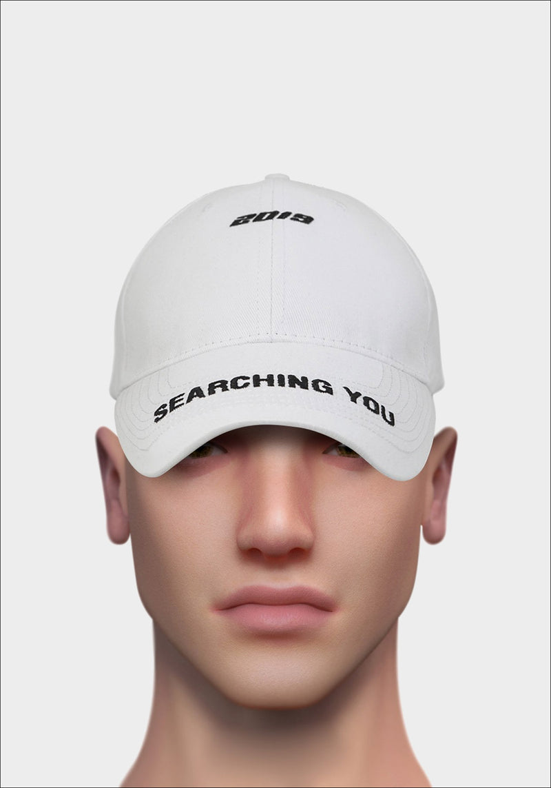White 'SEARCHING YOU' Cap