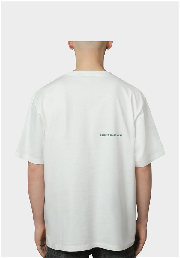 White LOGO T-Shirt - Green Back Logo Version