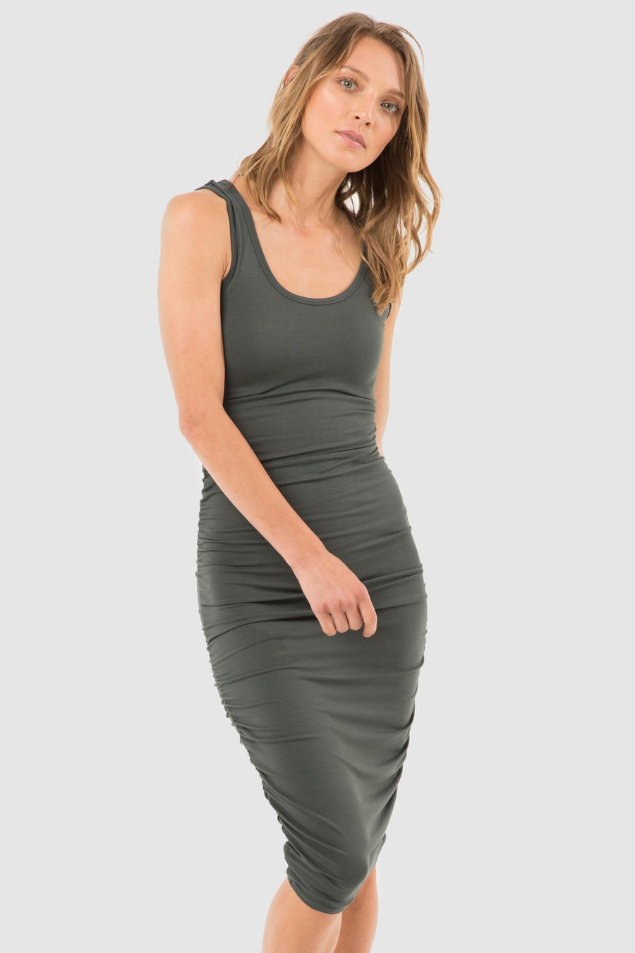 Bamboo Body Ruched Tank Dress