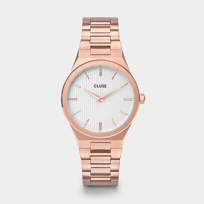 Cluse Vigoureux 33 Rose Gold/Snow White Rose Gold