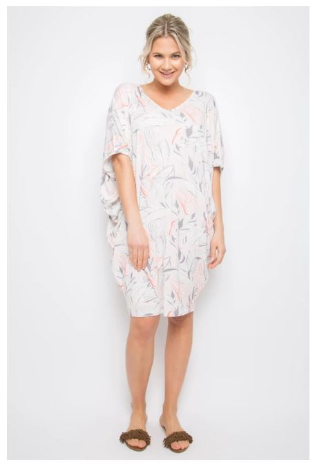 PQ Collection Miracle Dress In Pink Palm