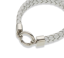 Load image into Gallery viewer, Palas White Leather Wide Bracelet