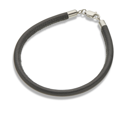 Palas Black Leather Fine Bracelet