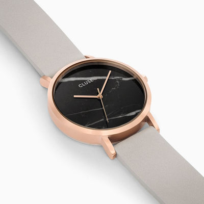 Cluse La Roche Rose Gold Black Marble/Grey Watch