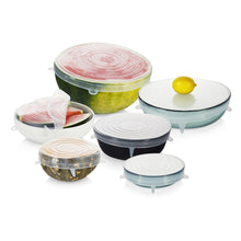 Load image into Gallery viewer, Seed & Sprout Large Reusable Stretch Lids - Set of 6