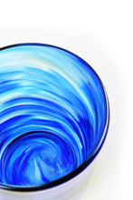 Load image into Gallery viewer, Swirl Highball Glass in Blue