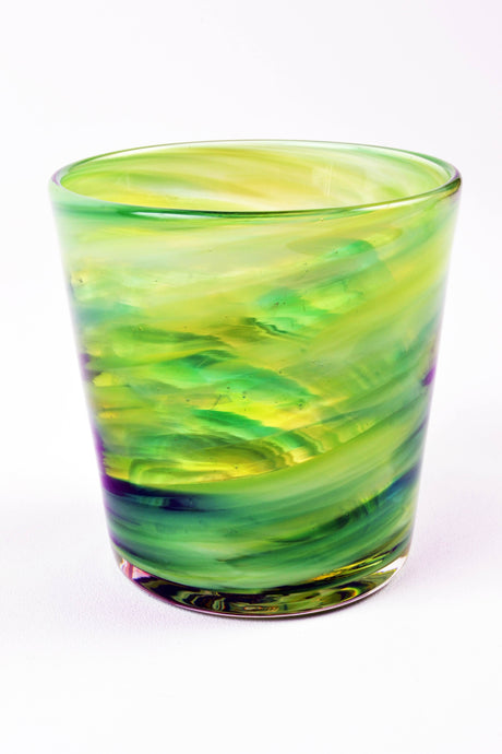 Swirl Highball Glass in Green