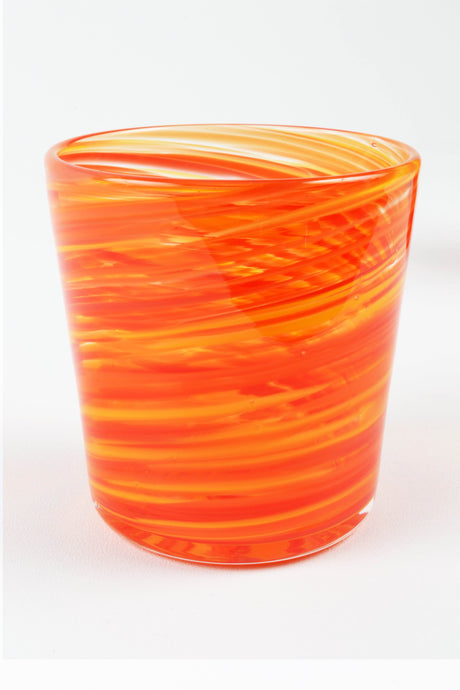 Swirl Highball Glass in Orange